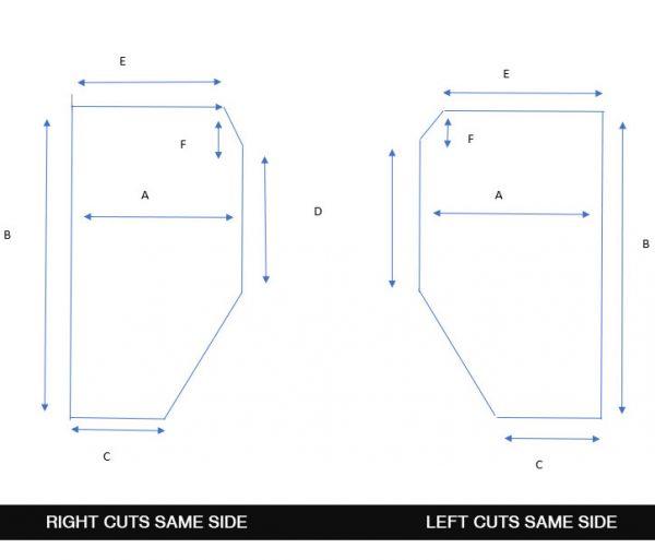Two Corners Cut Same Side